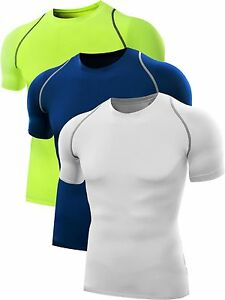 Neleus Men's Dry Fit Base Layer Compression T Shirt 3 or 2 Pack