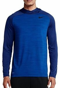 NIKE DRY MENS TRAINING DRI-FIT HOODIE SHIRT PULLOVER 696063 480 SIZE LARGE NWT