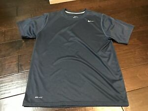 Nike Dri Fit Navy Blue Athletic Workout Running Shirt - Size Large
