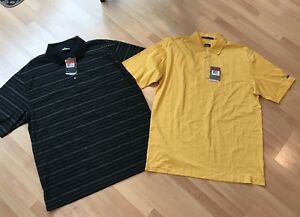 Nike Golf Fit Dry And Tiger Woods Collection Polo Shirts (2) *NWT* Men's Large