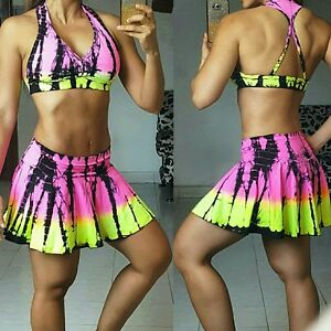 Colombian Brazilian Women's Outfit or Only Skort wshorts Microfiber S M Active