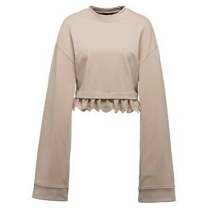 Fenty Puma By Rihanna Women Cropped Long Sleeve Sweater khaki moonlight