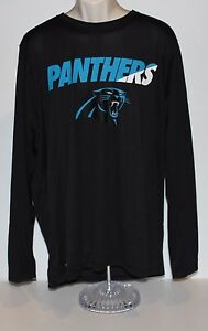 NFL Carolina Panthers Nike Dry Fit Men's XXL Black Long Sleeve Shirt