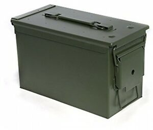 Military Grade All Metal Ammo Can Case Ammunition Storage 50 Cal Latching Box