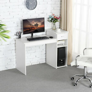 Computer Desk Laptop Table wDrawer Home Office Study Wood Workstation Furniture