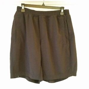 PRE-OWNED Lululemon Athletic Shorts MENS Size 30 ELASTIC with INNER BRIEFLINING