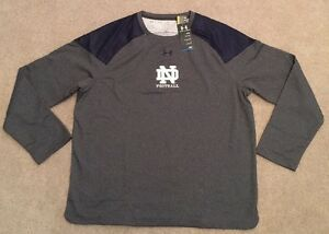 NWT TEAM ISSUED NOTRE DAME FOOTBALL UNDER ARMOUR PULLOVER LOOSE COLDGEAR 3XL