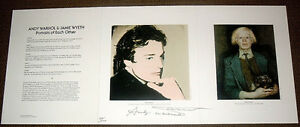 WARHOL & WYETH Portraits of Each Other LTD 1 of 100 SIGNED TWICE BY ANDY WARHOL