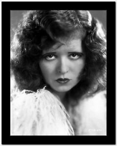 Clara Bow Close Up Portrait with Curly Hair Style High Quality Photo