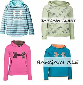 UNDER ARMOUR GIRLS YOUTH MEDIUM ~ 2 X SWEATSHIRTS ~ HOODIES ~ NWT PINK ~ $105
