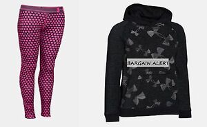 UNDER ARMOUR LEGGINGS ~ HOODIE SWEATSHIRT ~ SIZE XL or MEDIUM ~ PINK BLACK $90