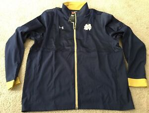 *MAKE OFFERS* NWT LOOSE UNDER ARMOUR NOTRE DAME FULL ZIP UP 2XL MSRP: $74.99