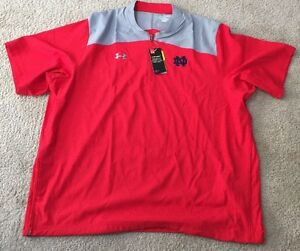 NWT LOOSE UNDER ARMOUR TEAM ISSUED NOTRE DAME FOOTBALL 3XL 14 ZIP PULLOVER