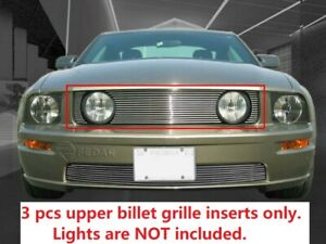 Billet Grille Front Upper For Ford Mustang GT V8 2005 2006 2007 2008 2009