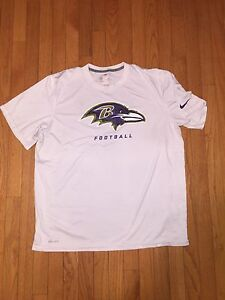 NFL Baltimore Ravens Nike Dri-Fit Player Worn Shirt Dennis Pitta Size XL