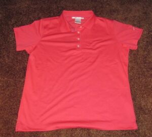 NIKE DRI-FIT GOLF POLO SHIRT COLOR CORAL PINK WOMENS XL EXTRA LARGE NWT NEW TAGS