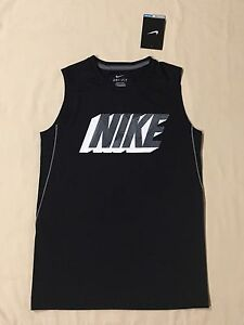 Nike Boys Sleeveless T-Shirt Base Layer Top Dri-Fit