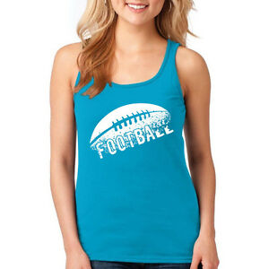 Shirt Football Women Racerback Tank Top T Shirt Ball S America Sports Team Gift