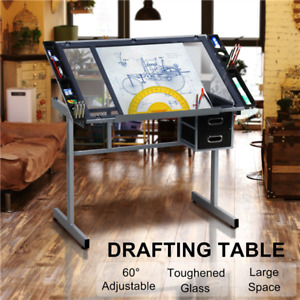 Adjustable Drafting Table Art Artist Drawing Craft Desk Table for Home Office $98.99
