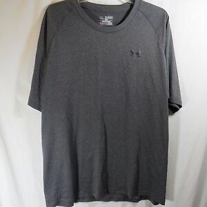 Mens Under Armour Athletic Shirt Loose Heat Gear Dark Gray Size 2XL