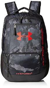 Under Armour Storm Hustle II Backpack Black Red One Size