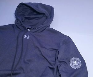 Under Armour FBI Hoodie Department of Justice DOJ 2XL XXL Gray Loose FIT