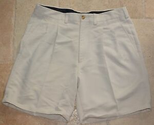 VERY SHARP CALLAWAY GOLF Men's SZ 34 Pleated Front Golf Casual Shorts  Khaki