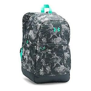 Under Armour Girls' Favorite Backpack Stealth GrayGreen Breeze One Size New
