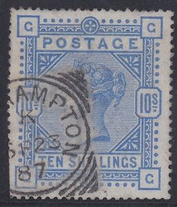 GB113) Great Britain 1883 10- Ultramarine on Blued paper