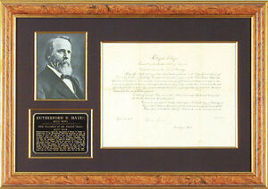 RUTHERFORD B. HAYES - CIVIL APPOINTMENT SIGNED 02121878 WITH CO-SIGNERS