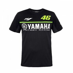 Valentino Rossi VR46 Dry Fit T-Shirt Black Yamaha Genuine NEW FOR 2017!
