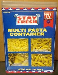 Pasta Multi pasta Keeper Container Holds a full lb of pasta