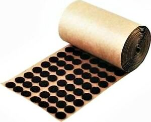 1000 Brown Adhesive Backed Felt Pads Dots 1 2 Button Protection Free Shipping