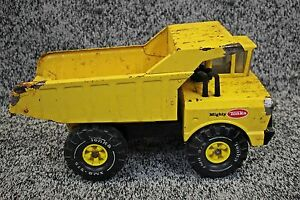 Vintage 1970's Mighty Tonka Dump Truck Pressed Steel Construction Series