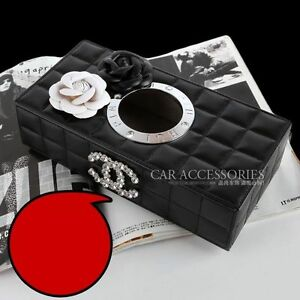 Creative Car Interior Decor Advanced Sheepskin Pattern Tissue Box Cars Accessory