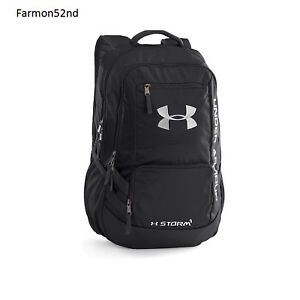 Backpack Under Armour Back Pack Black One Size School Work Gym Vacations NEW