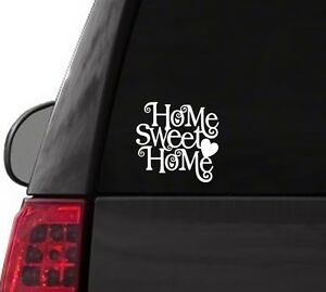 H120 Home Sweet Home curly sweets word vinyl decal for car truck