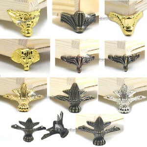 Jewelry Chest Wood Furniture Boxes Desk Feet Legs Corner Protector Decoration