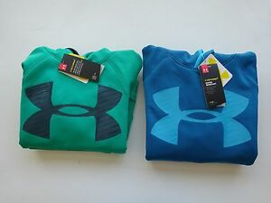 Under Armour Boy's Fleece Highlight Big Logo Hoodie NWT