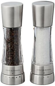 Cole & Mason Derwent Salt & Pepper Mill and Grinder Set, Stainless Steel