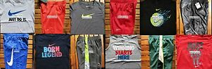NIKE BOYS SIZE 4T ~ SHORTS ~ T-SHIRTS ~ DRI-FIT ~ NWT ~ $258 ~ 12 PIECES