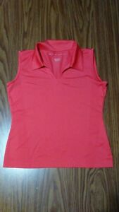Women's NIKE GOLF Fit Dry Tank Top Shirt Size XS 02 Coral Athletic