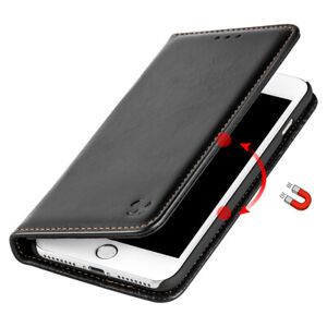 Black Removable Leather Wallet Case Cover For iPhone Xs Max Xr X 8 7 6 6S Plus