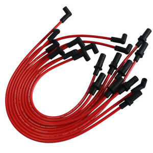 RED JDMSPEED SPARK PLUG WIRES SET FOR 1990-2003 Dodge 1500 2500 3500 TRUCK VAN