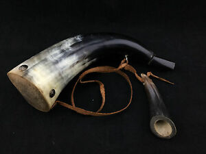 Powder Horn with screw in tip and strap