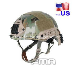 Tactical Airsoft Paintball Hunting Adjustable Fast MH Helmet Multicam CP MC (XL)