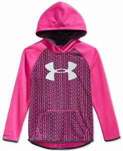 Under Armour Girls' Armour Fleece Printed Big Logo Hoodie