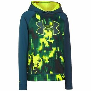 Under Armour Boys Armour Fleece Storm Printed Hoodie Youth XSmall $35.99