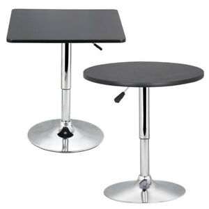 Modern Swivel Counter Height Table Adjustable Pub Bistro Bar Cafe Tables Indoor