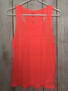Champion Orange Racerback Tank Top Yoga Exercise Shirt Womens Size XS (Y)